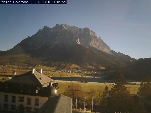 Hochmoos Webcam zur Zugspitze